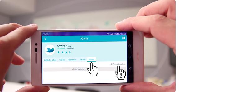 Mobilní aplikace - chystáme se přidat přílohu