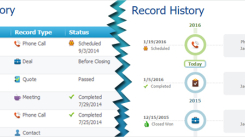 Try new visual of history in RAYNET CRM